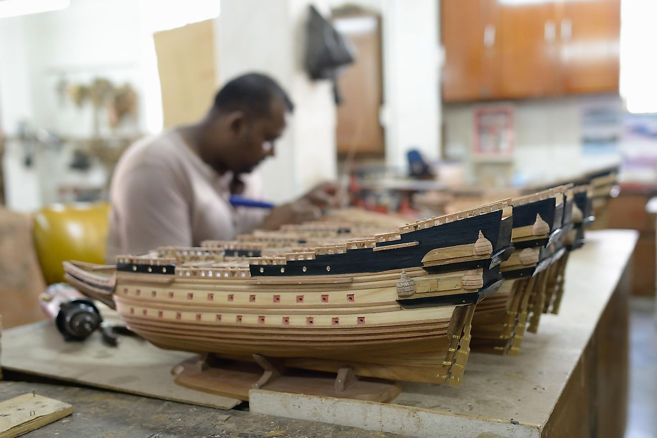 Ship modelling is a popular craft in Mauritius. Image credit: Oleg Znamenskiy/Shutterstock.com