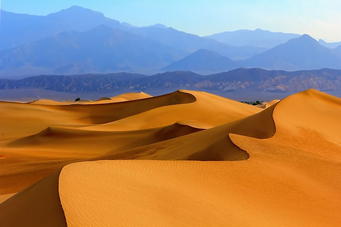 Star sand dunes in the Death Valley, California, USA.