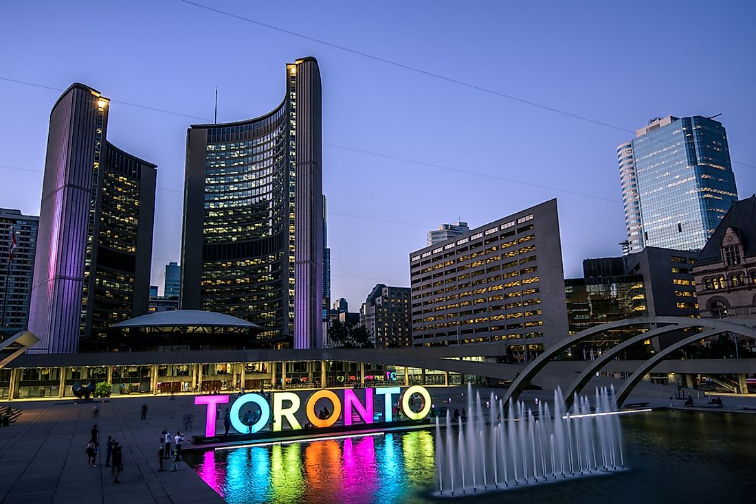 The largest city in Canada is Toronto with a population of 6,054,191 people.