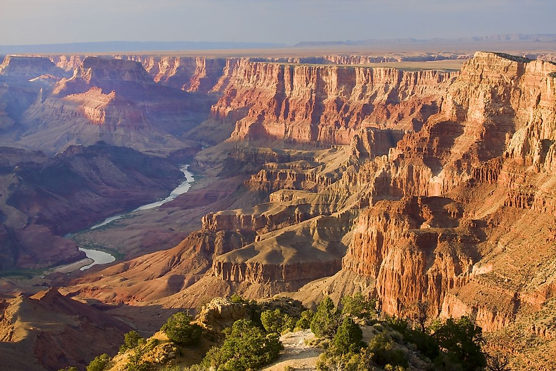 The canyon was carved by the renowned Colorado River around five to six million years ago.