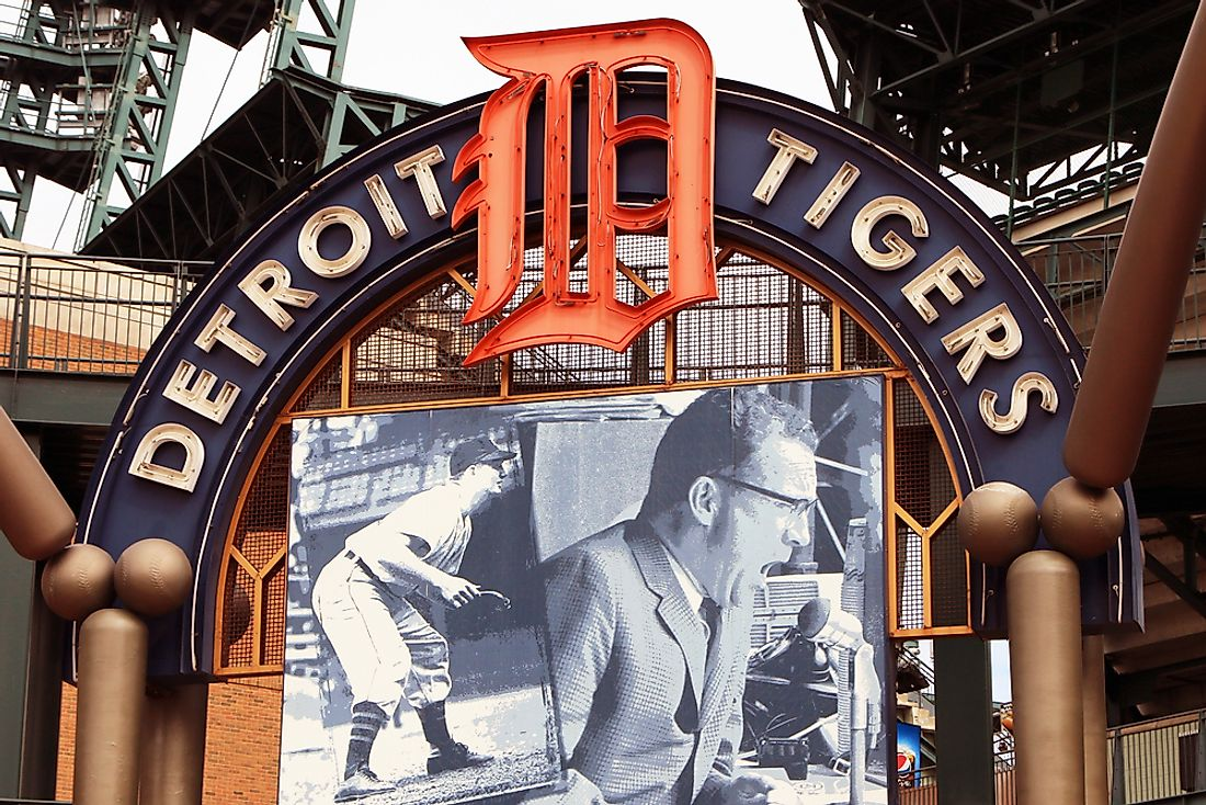 Comerica Park is the new home of the Detroit Tigers. Editorial credit: James R. Martin / Shutterstock.com