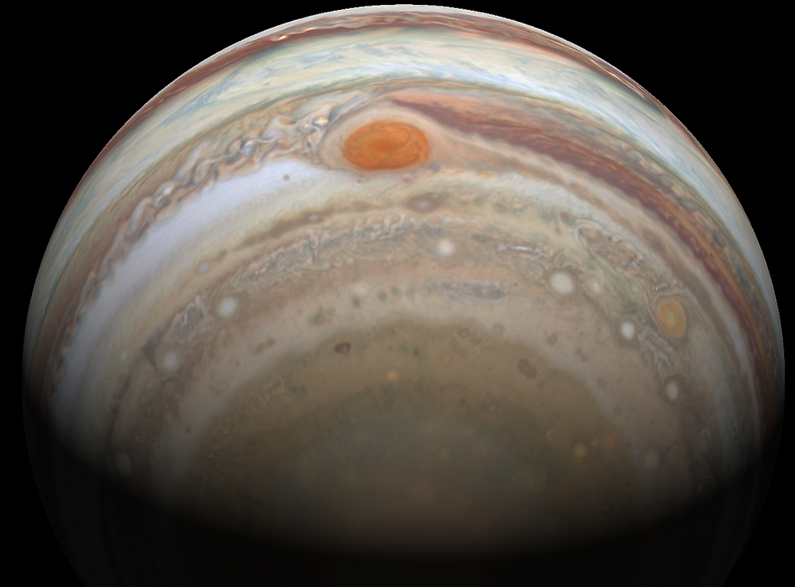 The Great Red Spot on Jupiter.