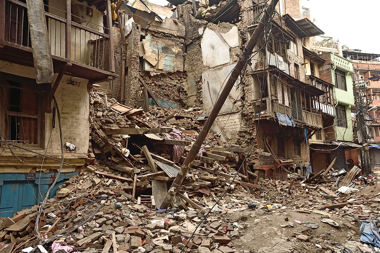 Earthquakes ravage cities, often causing extensive damage.
