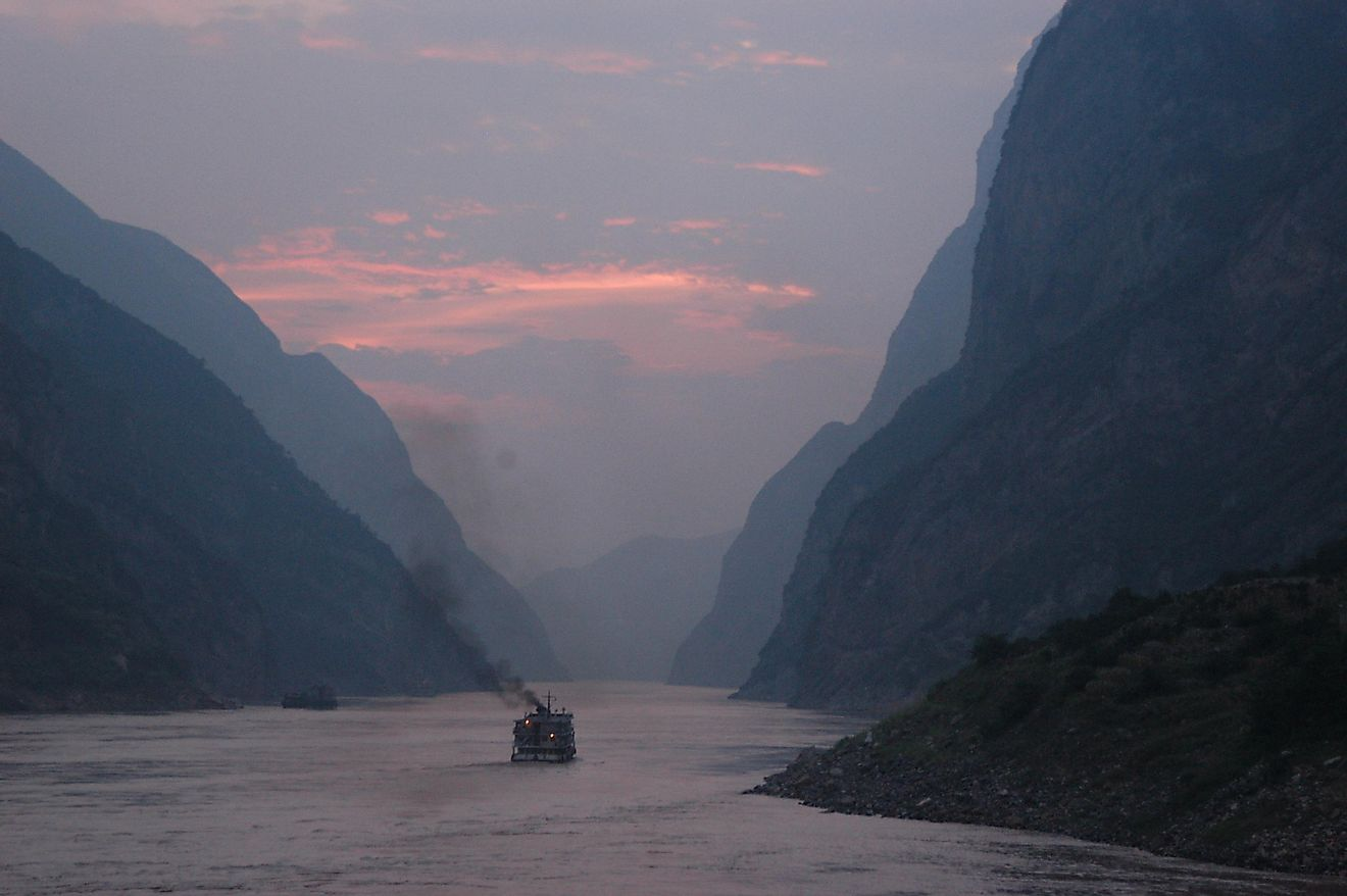 The Yangtze River In China, The Longest Asian River Which Drains One-Fifth Of The Land Area Of The People's Republic Of China