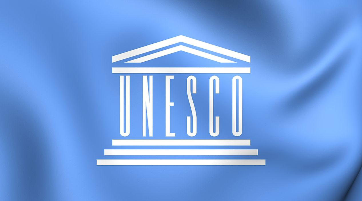The flag of UNESCO.