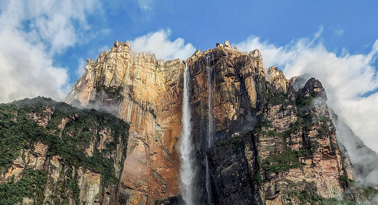 The Angel Falls (Salto Angel), the world's highest waterfall (978 m)  - Venezuela, Latin America.