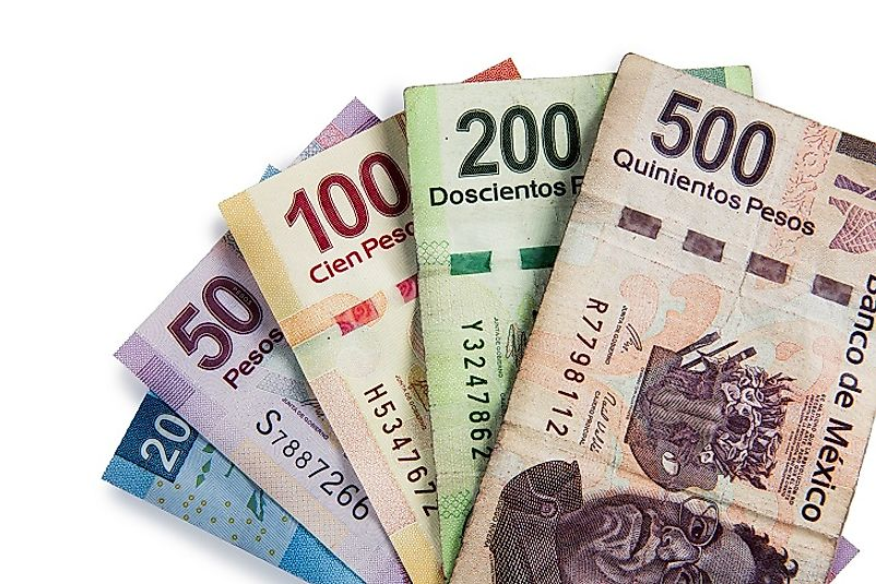 The value of the Mexican peso has been erratic at times in recent years due to changes in the country's debt status.
