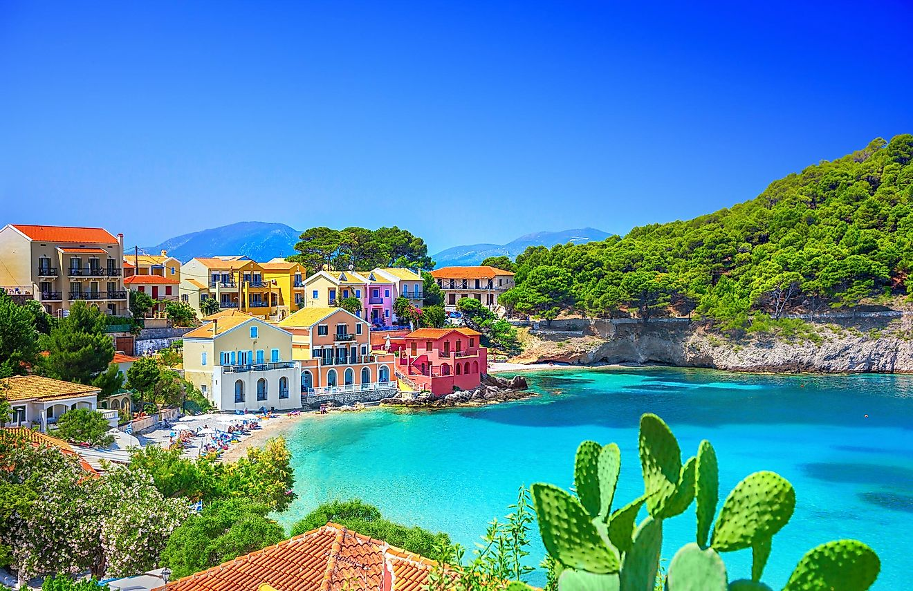 Assos village, Kefalonia, Greece.