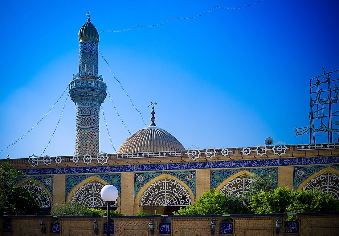 The Abu Hanifa Mosque in Baghdad, Iraq.
