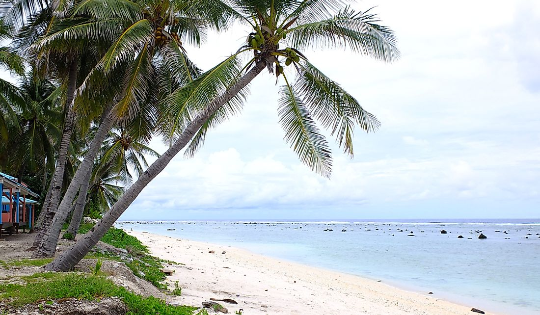 Coconut trees and beautiful natural landscapes are common sights in Nauru.