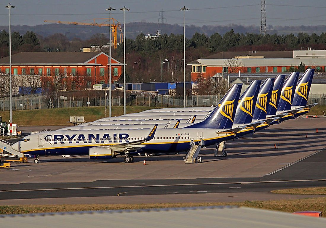 Ryanair is the biggest airline in Europe by the number of passengers served annually.