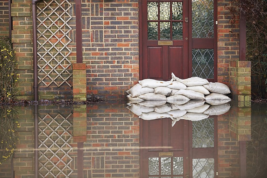 Flooding occurs in the United Kingdom and can sometimes be dangerous.