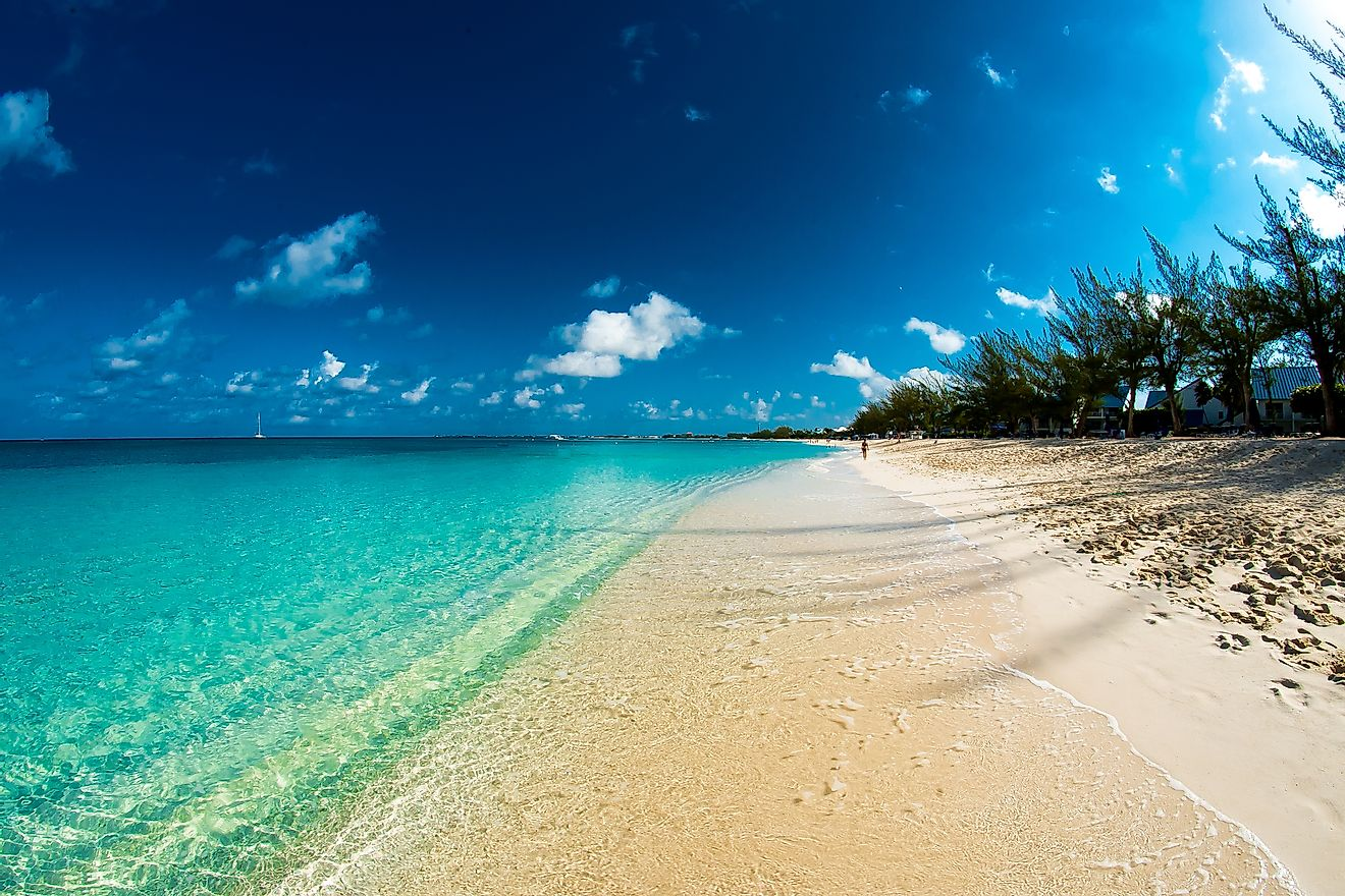 The beaches of Grand Cayman Island.