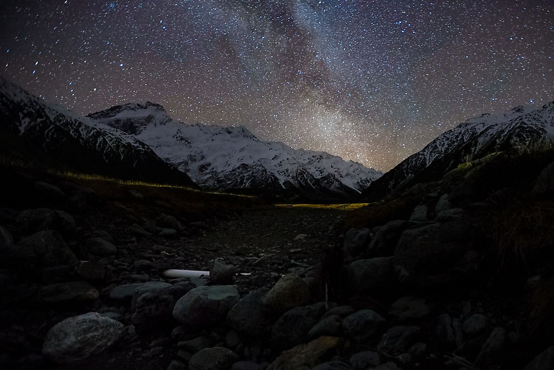 Aoraki/Mount Cook National Park in New Zealand is the largest dark sky reserve in the Southern Hemisphere.