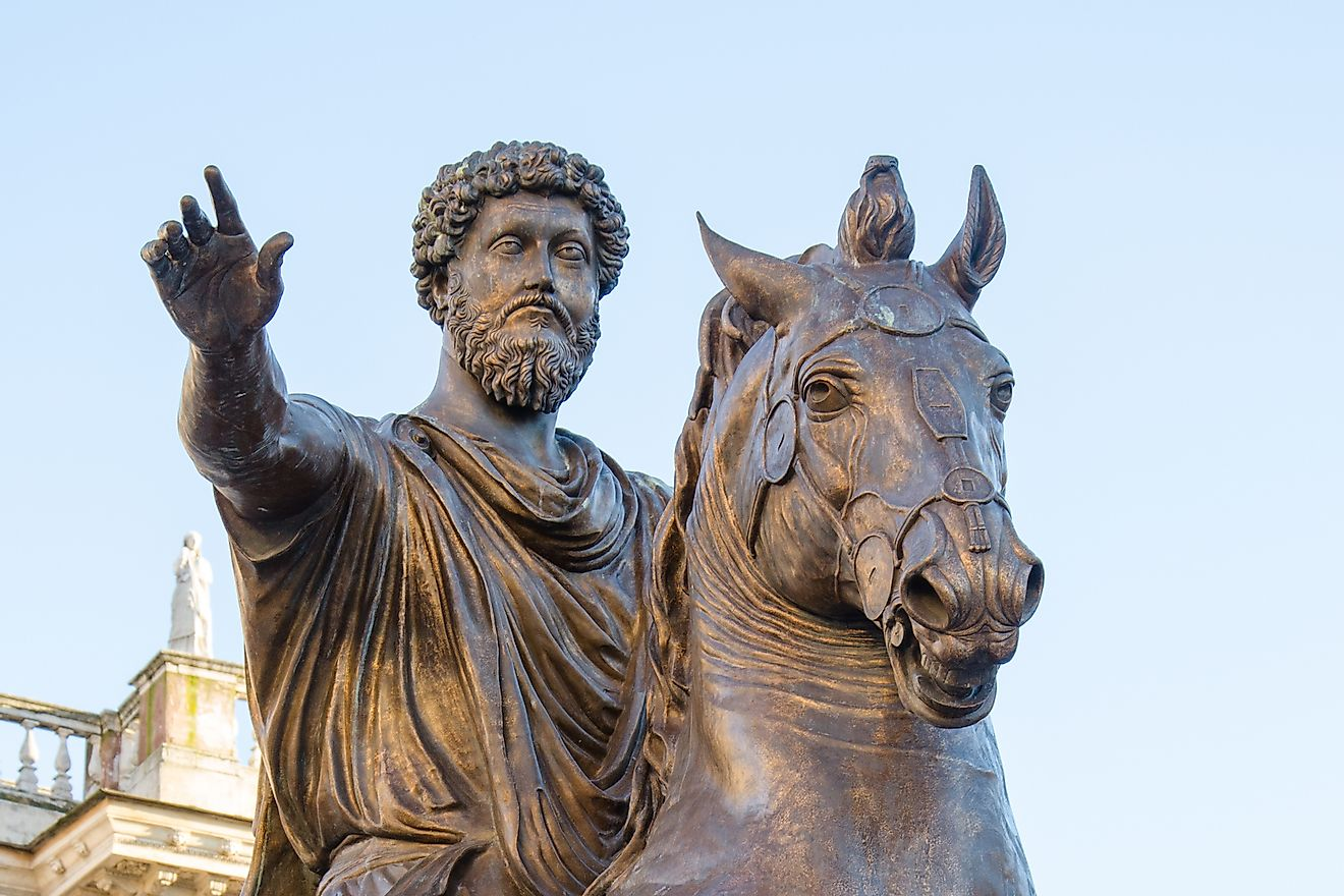 Statue of the emperor Marco Aurelio at the Capitoline Hill in Rome, Italy. Image credit: Anticiclo/Shutterstock.com