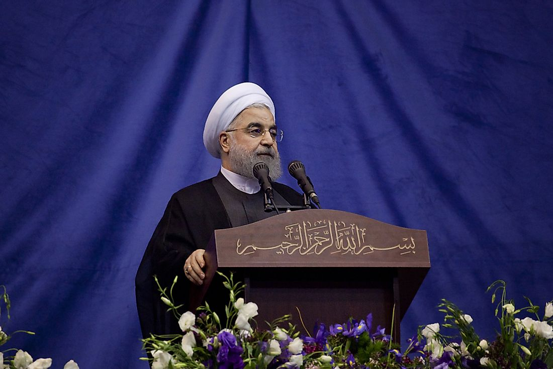 Hassan Rouhani, the incumbent Iranian president. Editorial credit: saeediex / Shutterstock.com.