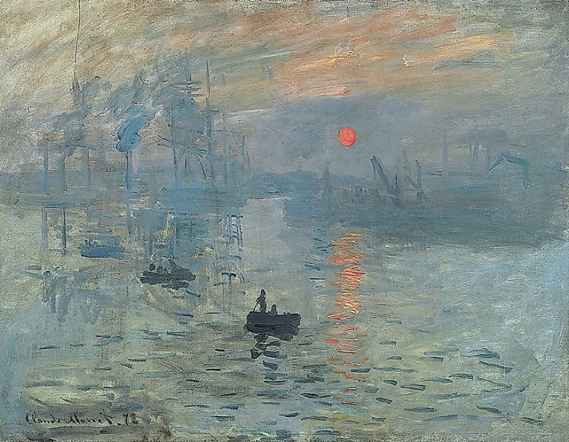 "Claude Monet's 1872 painting ""Impression, Soleil Levant"" lent its name to the Impressionist Art Movement."
