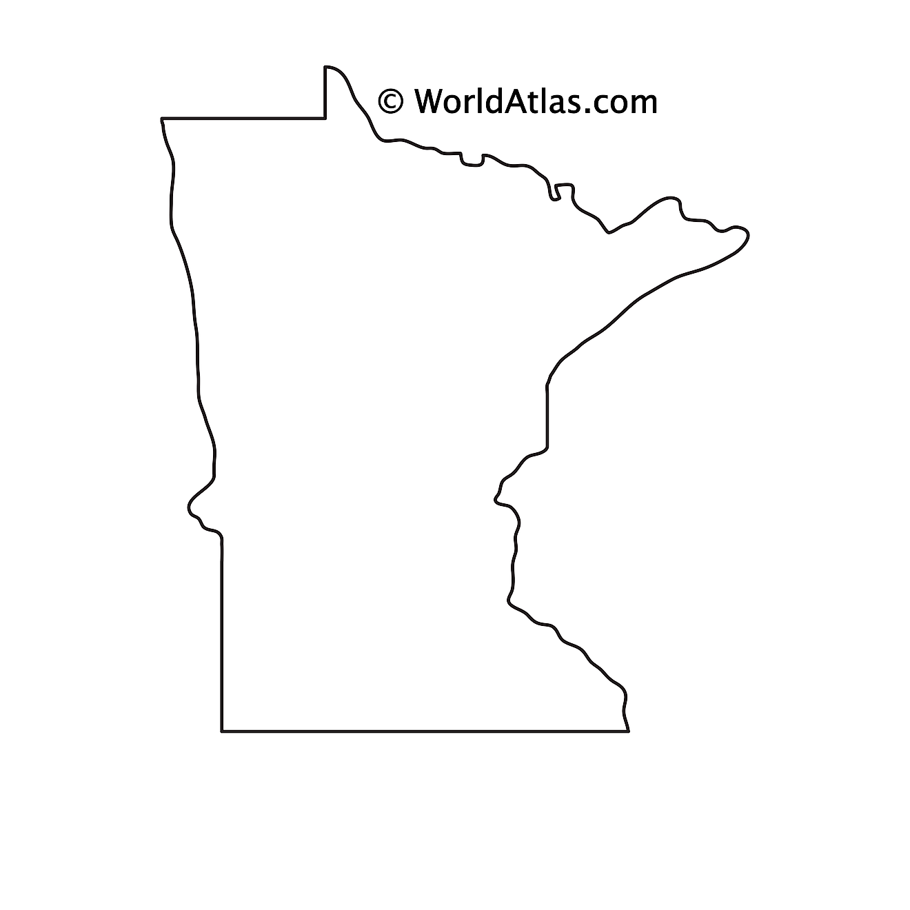 Blank Outline Map of Minnesota