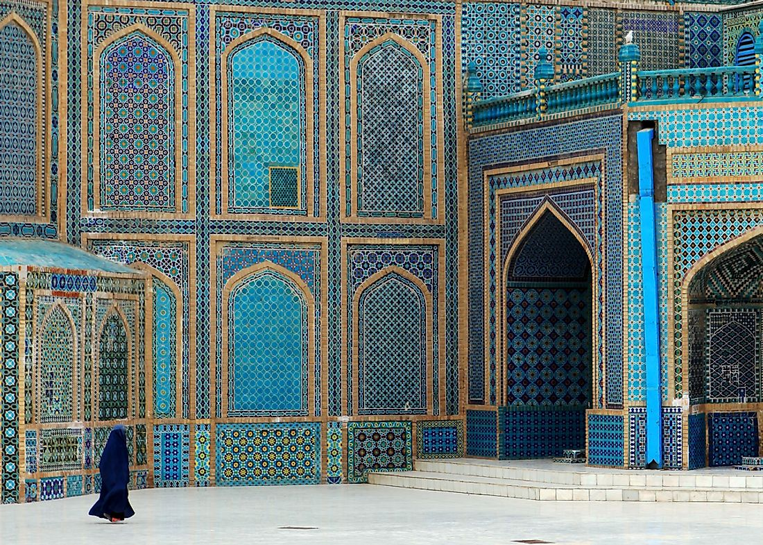 The Blue Mosque in Afghanistan. Editorial credit: CHRIS POOK / Shutterstock.com.