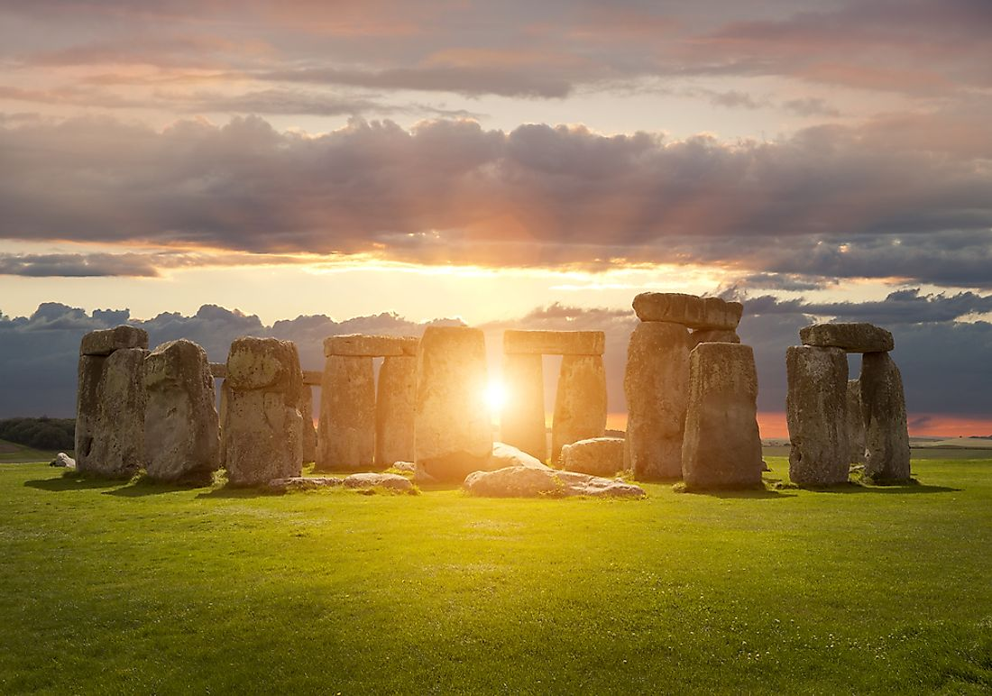 The celebration of summer solstice at Stonehenge, England.