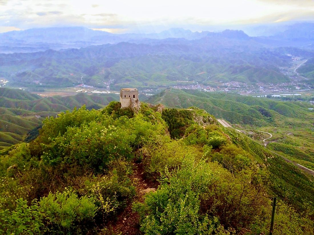 The views from the Great Wall at Gubeikou.