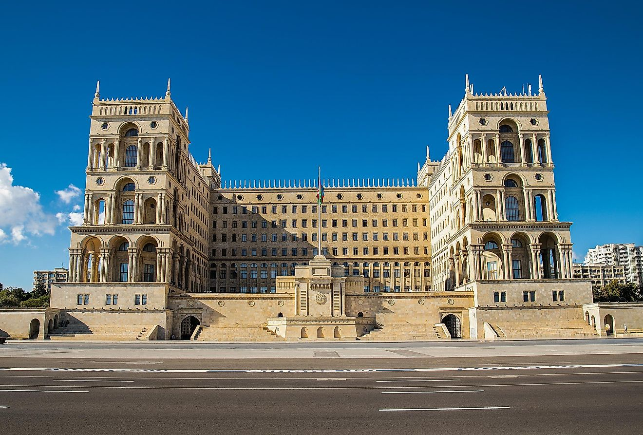 The house of the government of Azerbaijan.