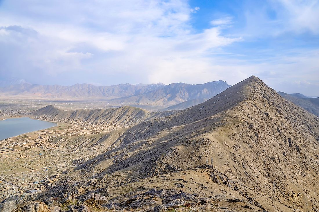 Mountains near Kabul, Afghanistan.