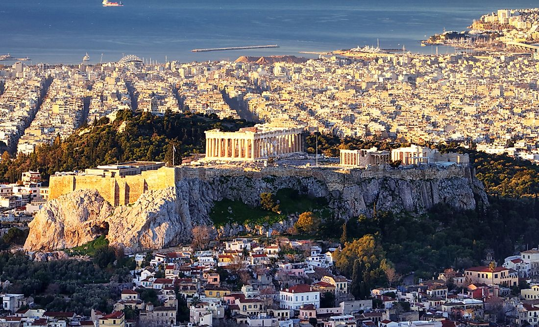Athens, the biggest city in Greece.
