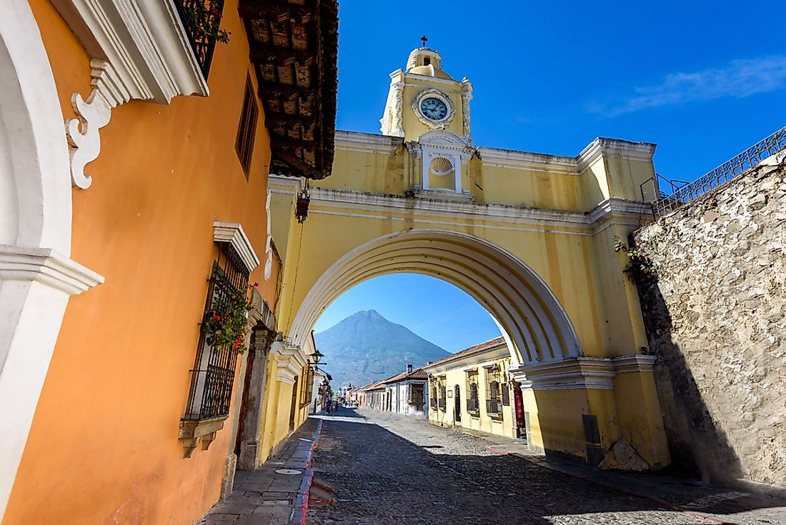 Spanish colonial style in Antigua, Guatemala.