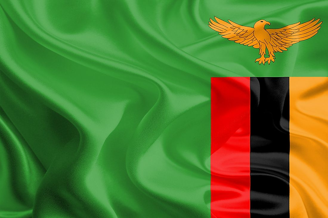 The official flag of Zambia.