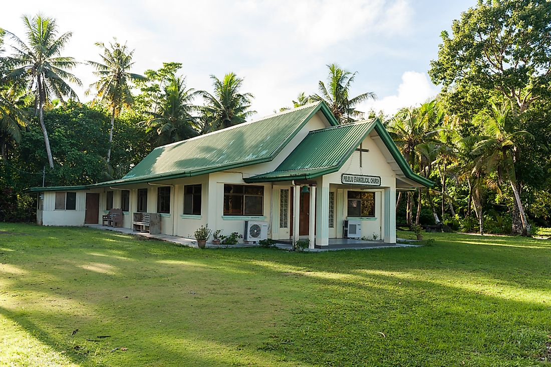 A small church in Palau. Editorial credit: photosounds / Shutterstock.com.