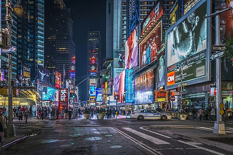 For those arriving into the U.S. via New York City, Manhattan's bustling Times Square is often one of the first sights they see.