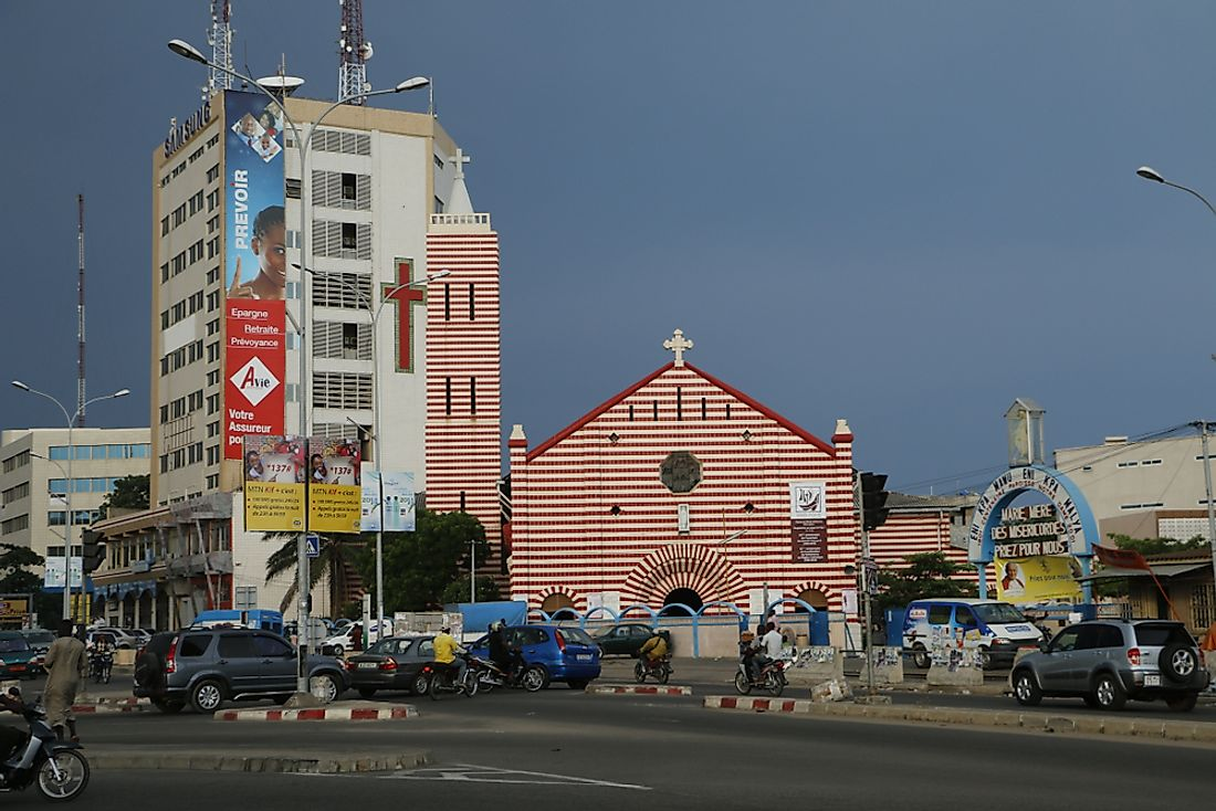 Cotonou Cathedral, Benin. Editorial credit: Cora Unk Photo / Shutterstock.com.