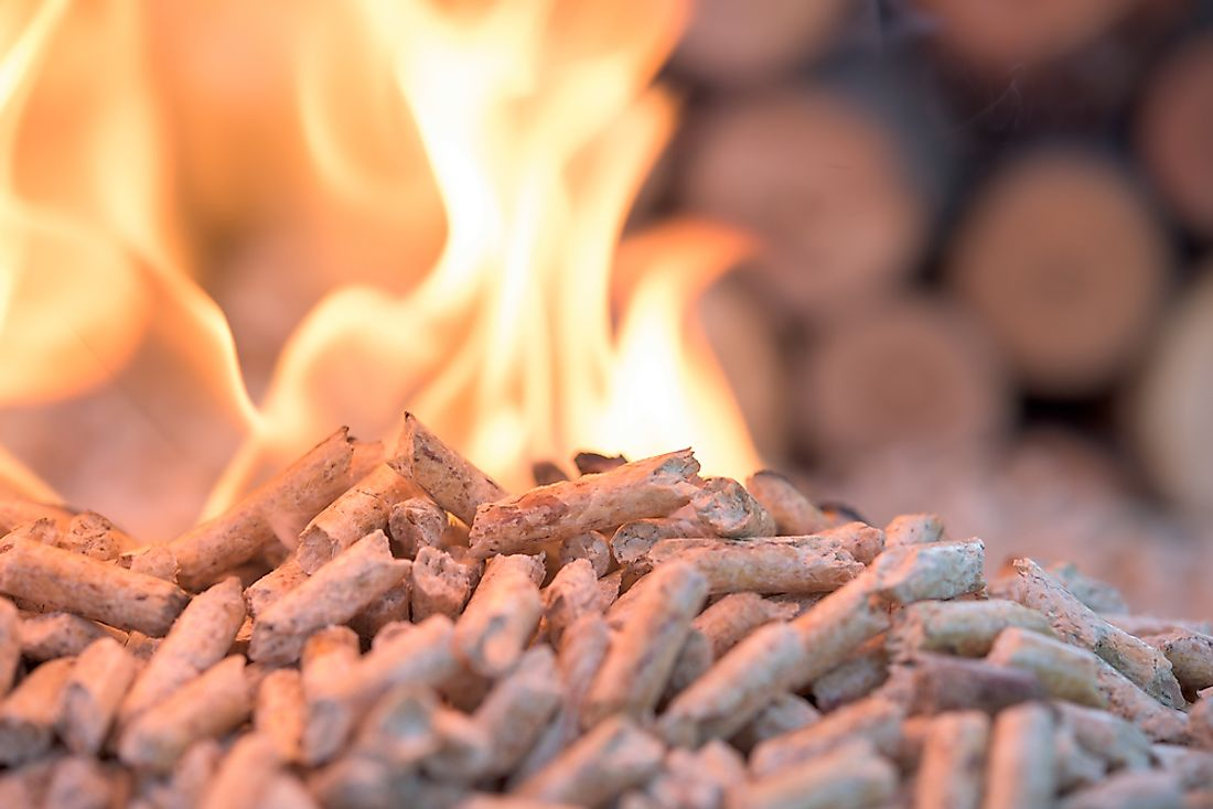 Pellets in flame count as biomass.