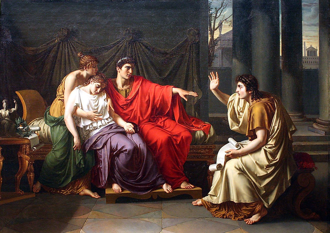 Virgil Reading the Aeneid to Augustus, Octavia, and Livia by Jean-Baptiste Wicar, Art Institute of Chicago. Image credit: Jean-Baptiste Wicar/Public domain