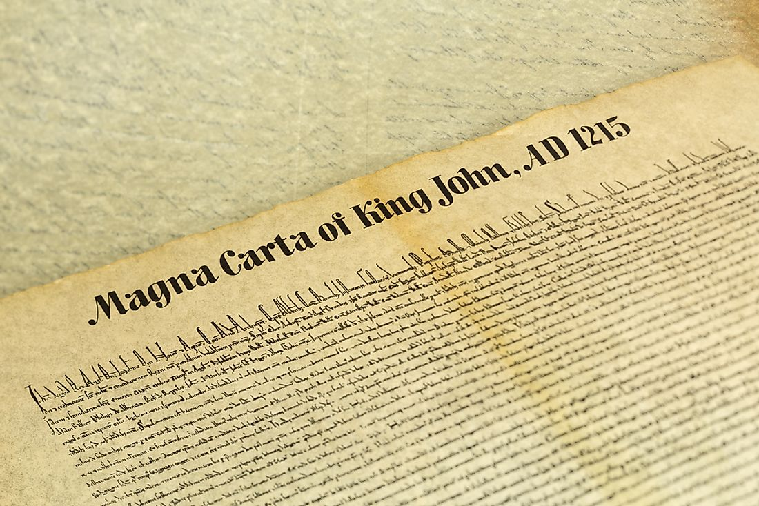 The Magna Carta contained 63 different clauses, all written in Latin on parchment.