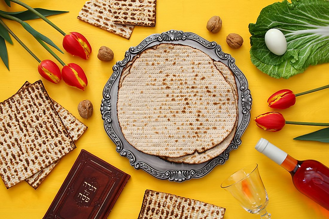 The traditional foods of Passover include bitter herbs and unleavened bread.