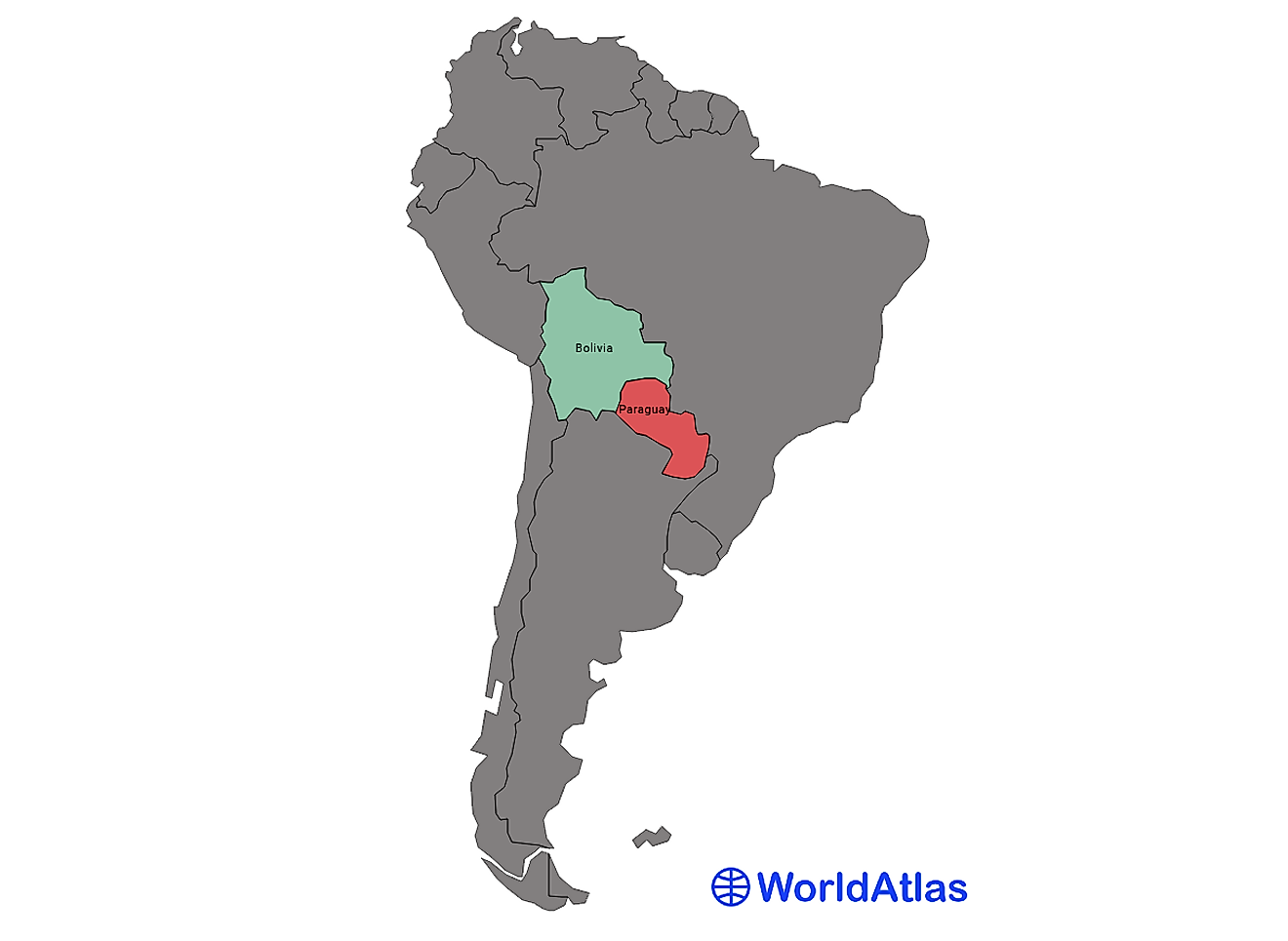 South America has 12 sovereign states; only Bolivia and Paraguay are are landlocked.