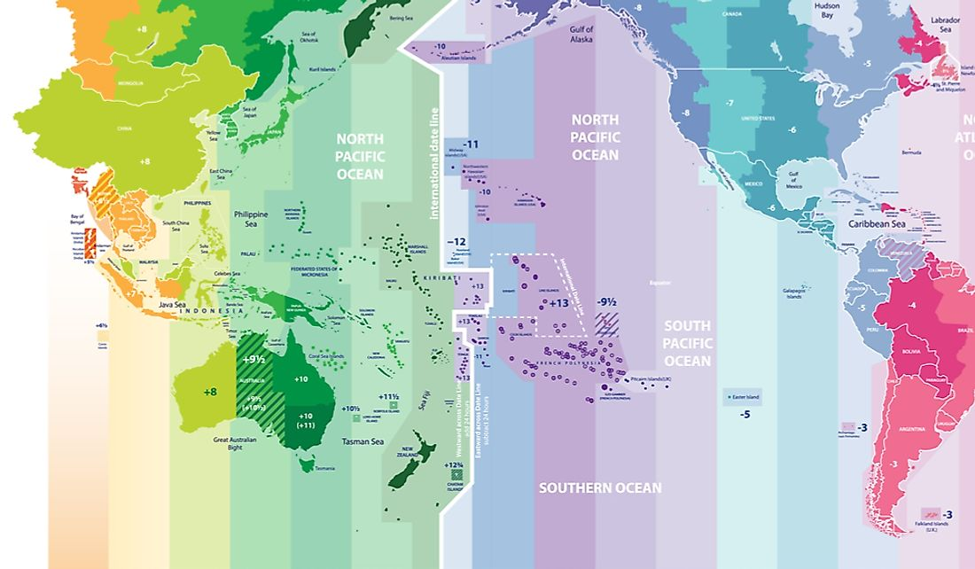 Picture of: What Is The Biggest Time Difference Between Two Places On Earth Worldatlas