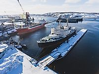 Where is Russia's Largest Arctic Port?