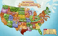 This Map Reveals the Nickname of Every State and Province