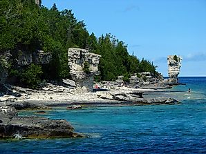Flowerpot Island - Unique Landforms of North America