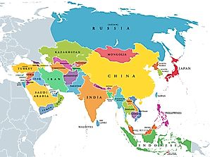 What Are The Five Regions of Asia?