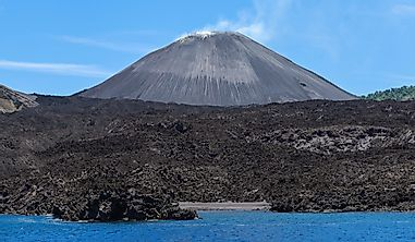 Which Is The Only Active Volcano In South Asia?