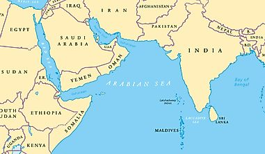 Which Countries Have Coastlines On The Arabian Sea?