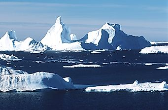 A large iceberg has broken away from the Antarctic Peninsula