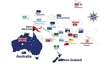 How Many Countries Are in Oceania?