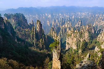 What Is Unique About China's Tianzi Mountain?