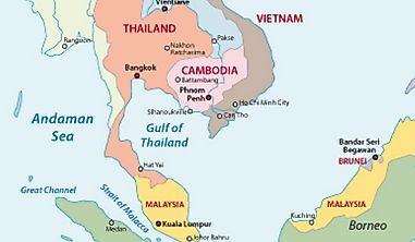 Which Countries Border The Gulf Of Thailand?