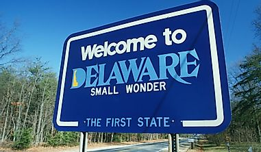 Which States Border Delaware?
